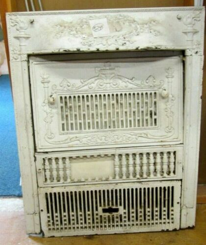 COMPLETE W/COVER ANTIQUE VICTORIAN IRON FIREPLACE SURROUND AN INDY ESTATE # 24