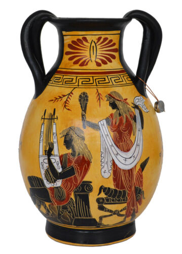 Goddess Aphrodite - Apollo - Artemis Diana Goddess of Animals Amphora Vase