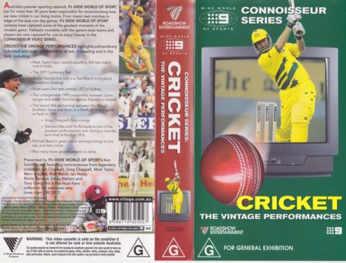 CRICKET THE VINTAGE PERFORMANCES~VIDEO  VHS PAL~A RARE FIND