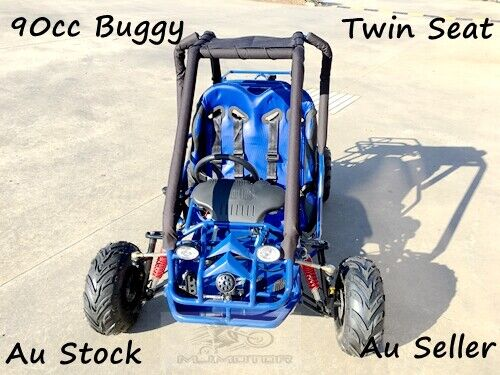 90CC TWIN SEAT BUGGY GOKART KIDS TEEN DUNE BUGGY QUAD ATV 4 WHEEL 110CC 125CC <br/> Right hand drive 3 forward gears+ rev