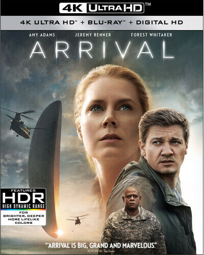 Arrival (2016 Amy Adams) (2 Disc, With Blu-ray) 4K ULTRA HD BLU-RAY NEW