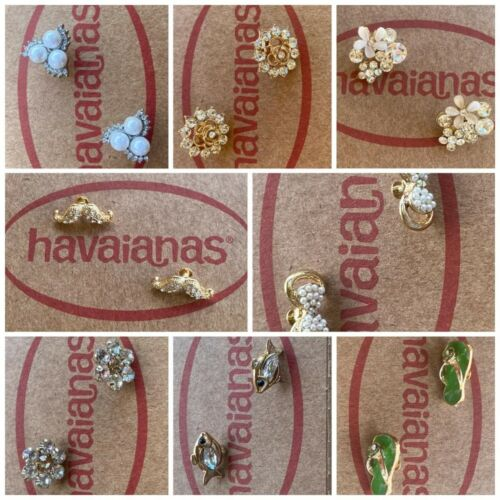 Crystals Or Personalized Crystal Charms for Havaianas SLIM Flip Flops slim <br/> NEXT  DAY delivery- More charm for your Havaianas !