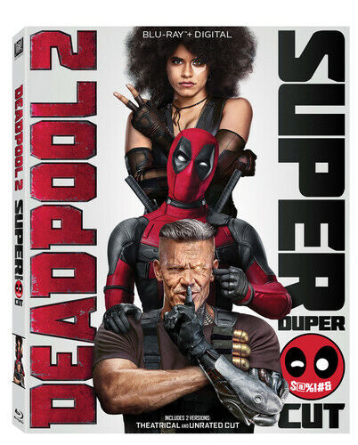 Deadpool 2 (2 Disc, Unrated Cut) BLU-RAY NEW