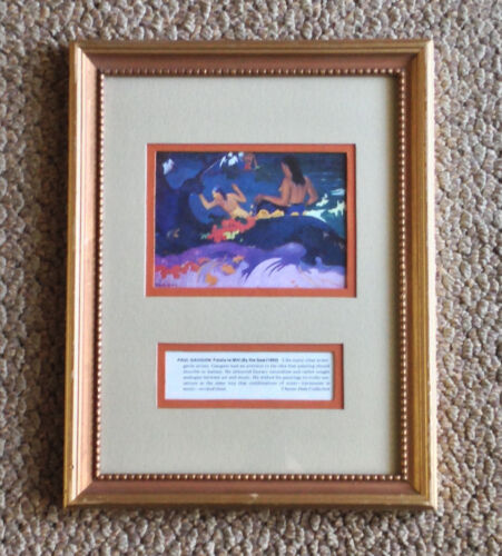 """Paul Gauguin FATATE TE MITI By The Sea Print Framed Chester Dale Collection 13"""""""