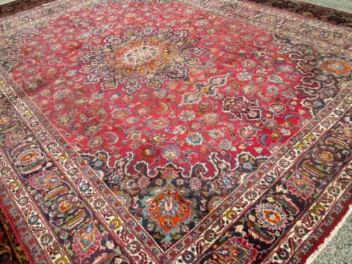 VERY OLD  ORIENTAL OVER SIZE RUG / CARPET 9 x 13 THICK DENSE GREAT BUY!