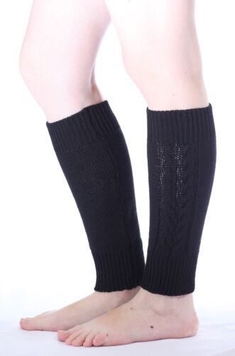 Wool Knit Cable Leg Warmers Baby, Women, Same Family Look Perfect Christmas Gift