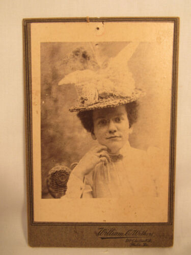 Antique Cabinet Card Photo William Withers Philadelphia PA