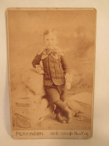 Antique Cabinet Card Photo Perkinson 125th St. NY Identified