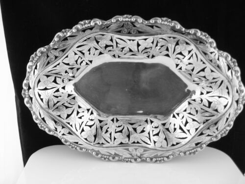 Antique 800 Silver Continental Silver Pierced Bowl Hand Made European