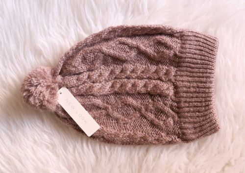 [NWT] Beige Pompom Hat, New Look