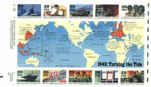 1943 WWII World at War Hardbound book with stamps  WW2 with stampsOther Militaria - 135