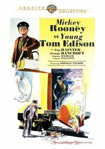 Young Tom Edison (1940 Mickey Rooney) DVD NEW