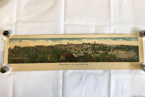 Antique Panorama De luxembourg Colored Print 1800's Early 1900's