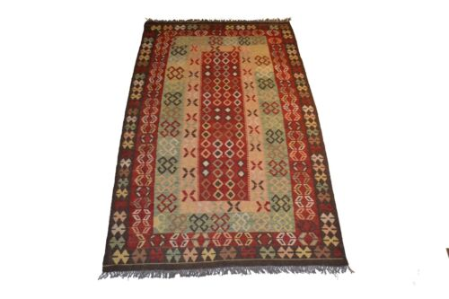 """Crafters&Weavers Oriental Kilim Tribal Vegetables Dyes size 3' 8""""  x 6' 5"""" #3630"""
