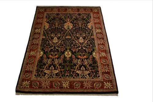 """Crafters&Weavers Oriental rug Indian  size 4' 1""""  x 6' 4""""  # 3641"""