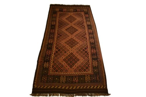 """Crafters&Weavers Oriental Kilim Tribal Vegetables Dyes size 3' 9""""  x 8' 4"""" #3204"""