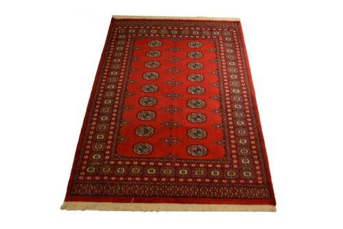 """Crafters&Weavers Oriental rug Pakistan bokhara rug size 4' 0""""  x 5'10""""  # 2617"""