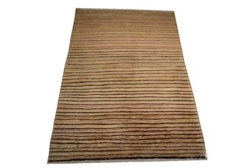"""Crafters&Weavers Oriental rug Chobi Vegetables Dyes size 3' 2""""  x 4' 10""""  #2725"""