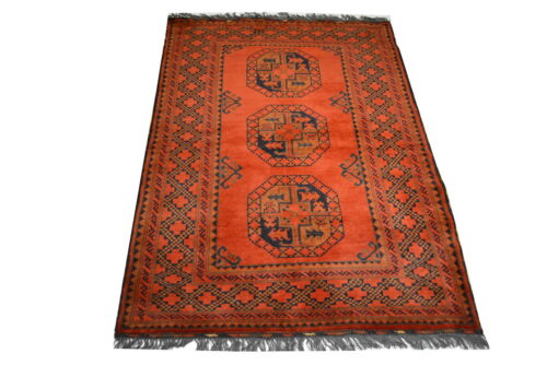 """Crafters&Weavers Oriental rug Tribal Vegetables Dyes size 3' 6""""  x 5' 0""""  #2482"""