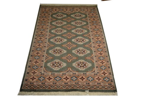 """Crafters&Weavers Oriental rug Bokhara rug size 3' 1  x 5' 1""""  #2665"""