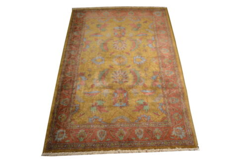 """Crafters&Weavers Oriental rug Chobi Vegetables Dyes size 3' 4""""  x 5' 0""""  #2211"""