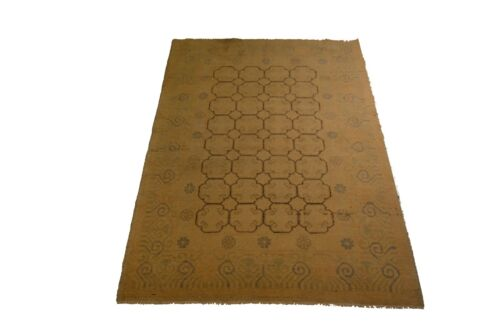 """Crafters&Weavers Oriental rug Chobi Vegetables Dyes size 4' 2""""  x 6' 0""""  # 3644"""