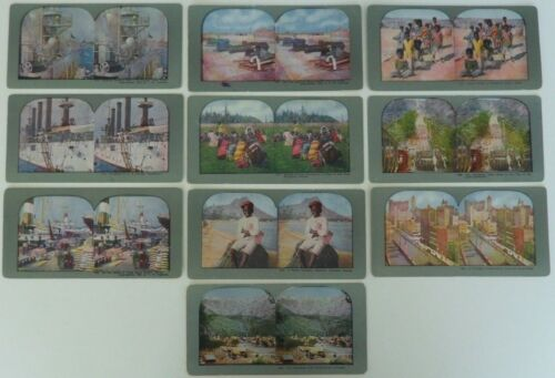 Antique Stereoview Cards in Color (10)