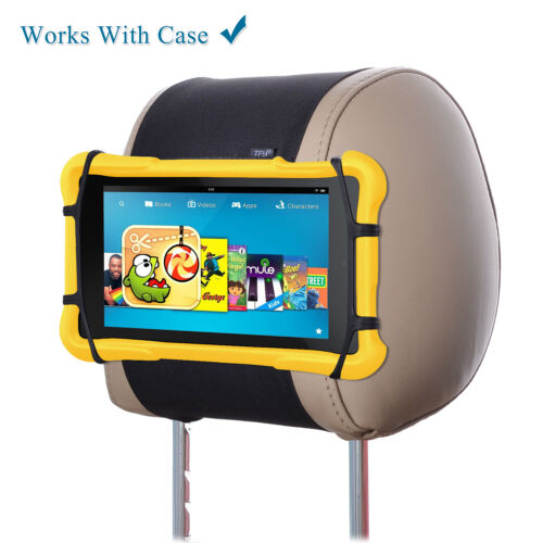 TFY Universal Car Headrest Mount Silicon Holder for 7 - 10 Inch Fire Tablets