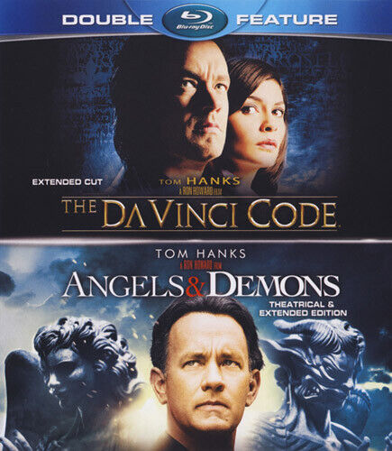 The Da Vinci Code 2006 / Angels and Demons 2009 (2 Disc, Extended) BLU-RAY NEW