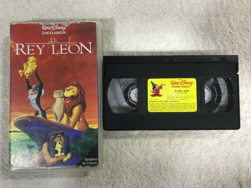EL REY LEON VHS CINTA TAPE 2 OSCARS THE LION KING WALT DISNEY