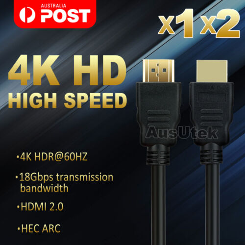 Premium HDMI Cable V2.0 Ultra HD 4K 2160p 3D High Speed with Ethernet HEC ARC