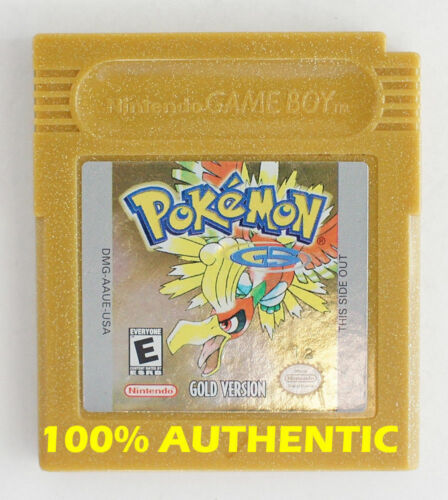 AUTHENTIC Pokemon Gold Version Save Properly New Battery Game Boy Color