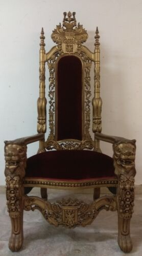 Trono poltrona Leoni  King chair lions
