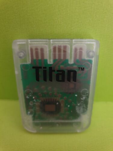 TITAN 1MB Memory Card CLEAR 🕹️For Playstation 1 One PS1 PSX 🕹️FREE POST (B11