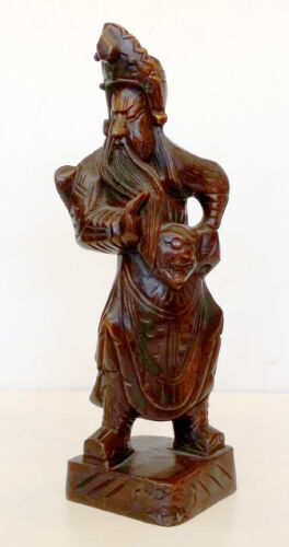 Vintage CHINESE CRAFTSMEN Carved Wood WOODEN ART SCULPTURE Taiwan China Republic