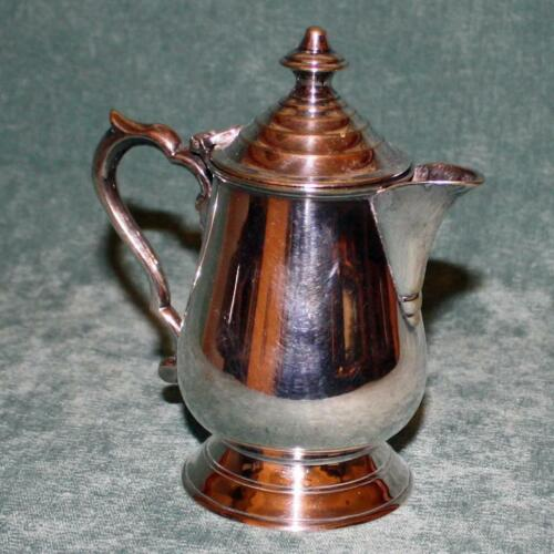 Antique Colonial India  Silver Plate Teapot for One