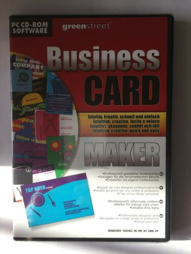 Business CARD MAKER PC CD-ROM BY greenstreet