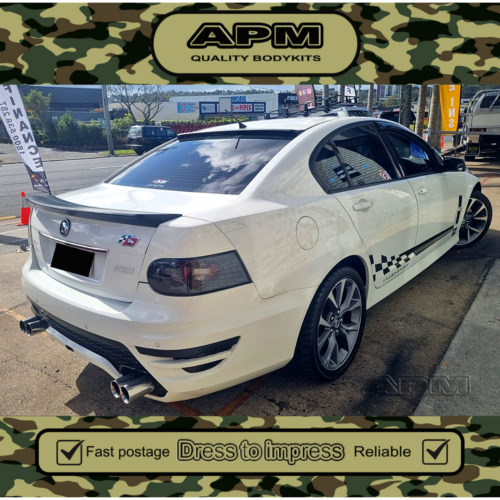 NEW MONKEY HOLDEN VE REAR BOOT SPOILER BOBTAIL WING SUIT VE SERIES 2 COMMODORE <br/> PLASTIC MADE REAR SPOILER, WITH SCREW INSERT BUILT IN