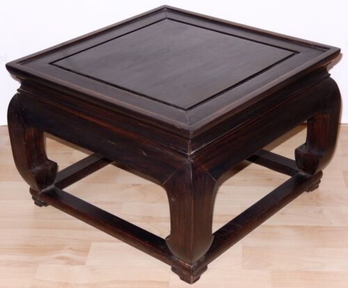 Vintage Chinese Rosewood Table Stand from Hong Kong Ming Style Mid Century