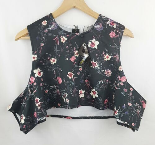 REHAB Womens Floral Size M Crop Top BNWT