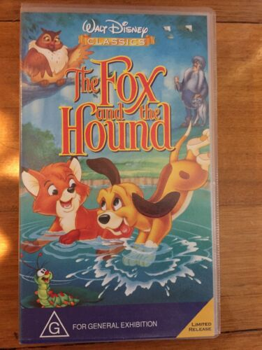 The Fox And The Hound - PAL VHS Video Tape WALT DISNEY Classics Limited Release