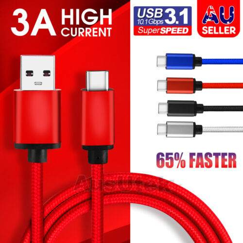 USB-C 3.1 Type C Data Cable Fast Charge For Samsung S20 Ultra S10 S9 S8 Plus 5G