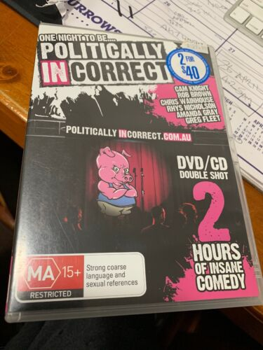 One Night To Be Politically In Correct Dvd 2 Disc Cd/dvd  VGC R4