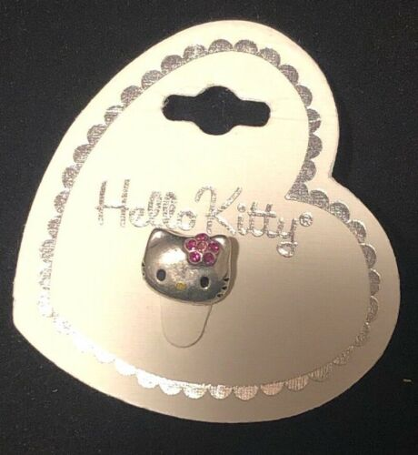 f4bdc3849 $12.88 Sanrio Hello Kitty Heart & Pink Crystal Stretch Toe Ring Silver Vtg  NewJewelry, Watches -