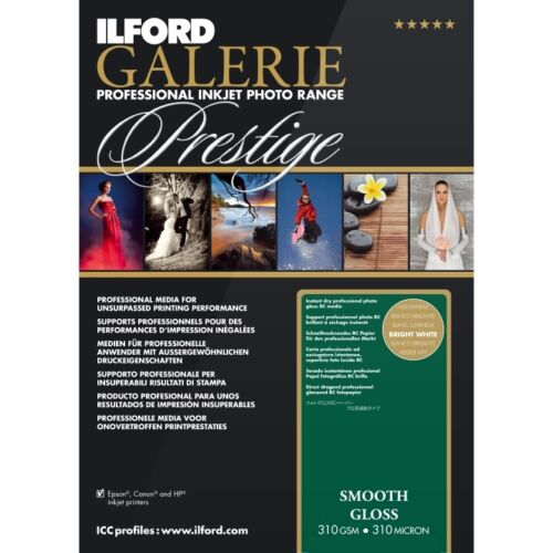 ILFORD GALERIE PRESTIGE SMOOTH GLOSS 310GSM A2 25 SHEETS