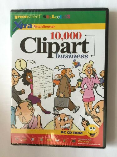 Greenstreet 10,000 Clipart Business PC CD-ROM SOFTWARE
