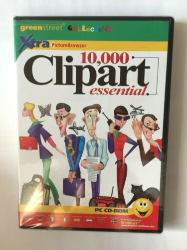 Greenstreet 10,000 Clipart Essential PC CD-ROM SOFTWARE