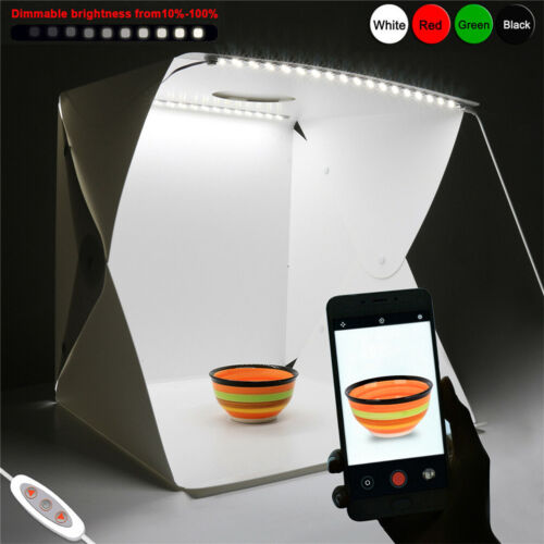 """16X16"""" Dimmable 70 LED Light Box Photo Studio Photography Shooting Tent Open Top"""