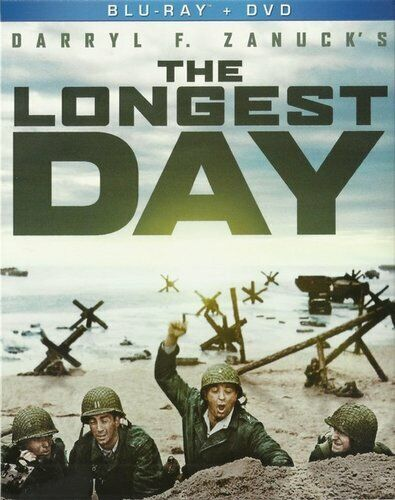The Longest Day (3 Disc, Blu-ray + DVD) BLU-RAY NEW