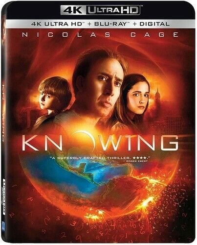 Knowing (2009) (Nicolas Cage) (2 Disc, With Blu-ray) 4K ULTRA HD BLU-RAY NEW